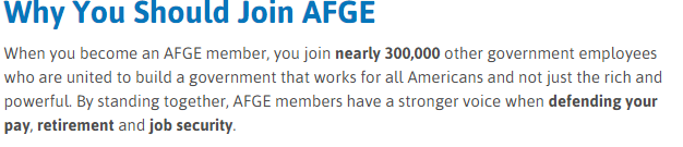 Why Join AFGE